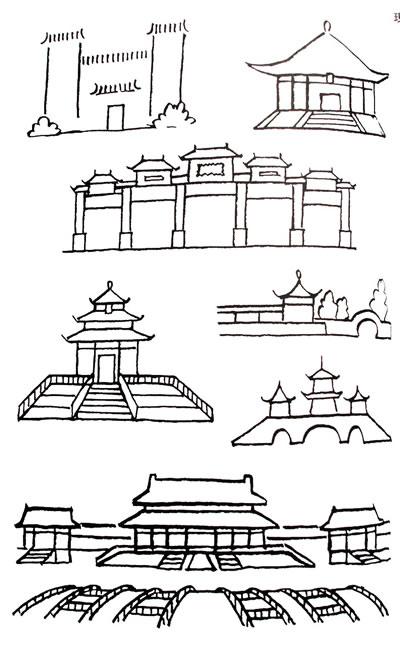 标志性建筑物简笔画图片 建筑物简笔画图片大全,建筑物简笔