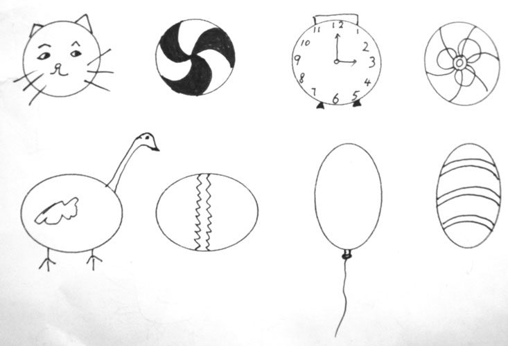 圆形的东西简笔画图片