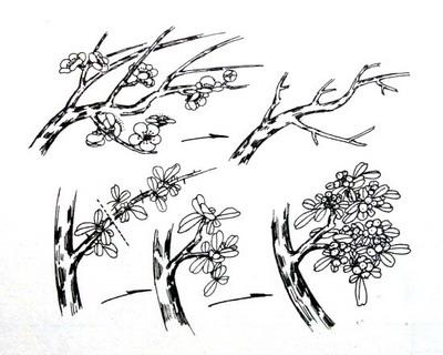 国画 简笔画 手绘 线稿 400_320