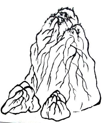 各种山形和皴法 - 红叶 - 日知斋