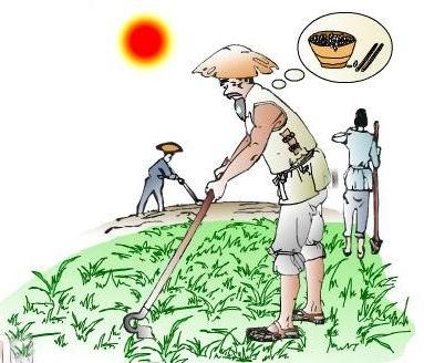 农民丰收卡通图片