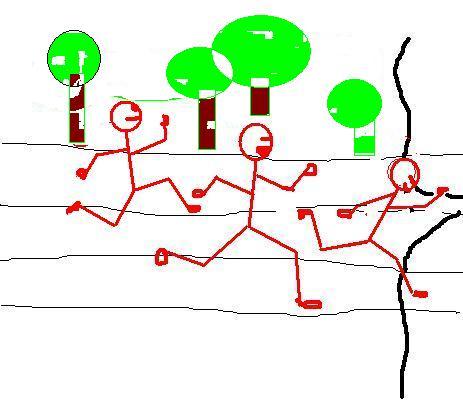 动漫人物简笔画男生跑步时