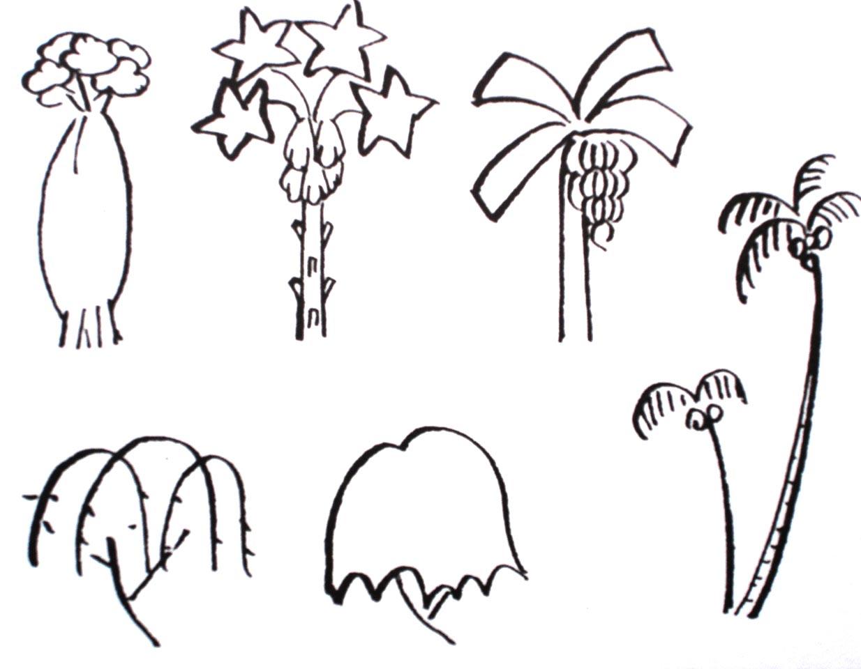 幼儿椰子树简笔画图片大全