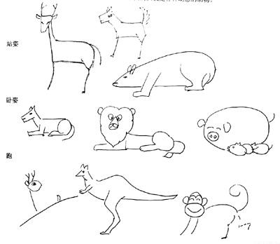 以《热闹的动物园》为主题画一幅简笔画(注意动物 ...
