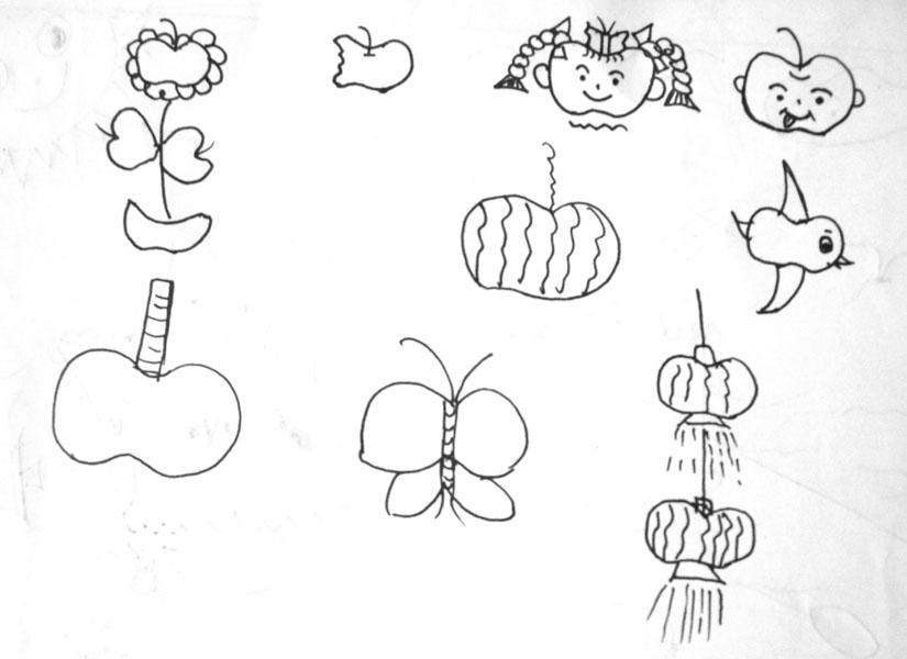本站图片参考或部分转载岭南出版社出版的《简笔画教程》,作者:蚁美玲