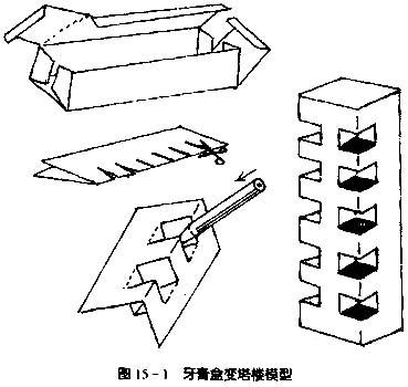 房子模型制作图解; 用纸盒做房子图片;